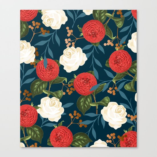Floral Obsession || #society6 #decor #buyart Canvas Print
