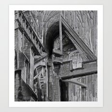 English Gothic (Halftone) Art Print
