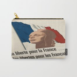 Vintage poster - La Liberte pu la France Carry-All Pouch