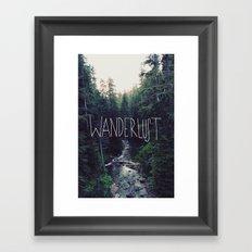 Wanderlust: Rainier Creek Framed Art Print