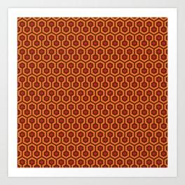 The Overlook Hotel Carpet Art Print