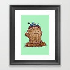 Good Day Log's Bird Nest Framed Art Print