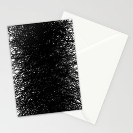 Static Abstract Dense Black & White Stationery Cards
