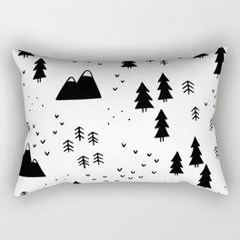 Woods in White Rectangular Pillow