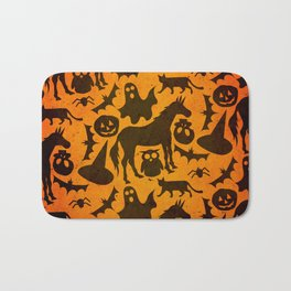 Halloween Spook Unicorn Bath Mat