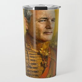 Bill Murray, Comedian, Classical Painting Portrait, Regal art, General, Actor Travel Mug