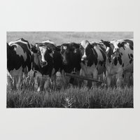 cows Area & Throw Rugs featuring Cows by Julia Lake Art Designs