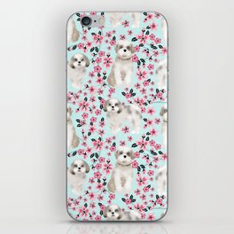 Shih Tzu dog breed florals pattern cherry blossom spring pet friendly gifts iPhone Skin