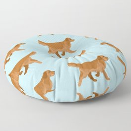 Golden Retriever Love Floor Pillow