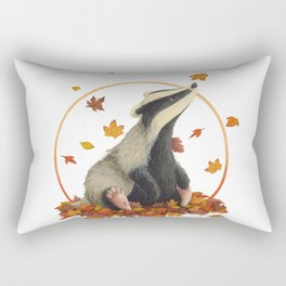Observing Badger Rectangular Pillow