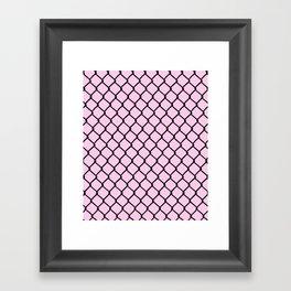 Chain Link Black on Blush Framed Art Print
