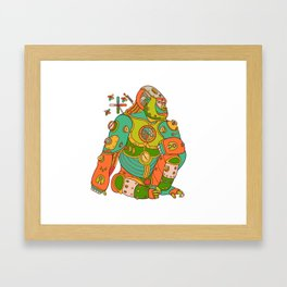 Gorilla, cool wall art for kids and adults alike Framed Art Print
