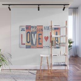 LOVE LA License Plate Art Wall Mural