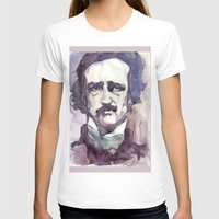 edgar allan poe T-shirts featuring Edgar Allan Poe by Germania Marquez