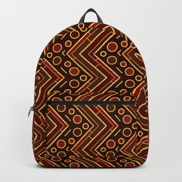 Gold Foil Arizona Chevron in Red and Black Backpack