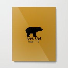 Papa Bear Brown Metal Print