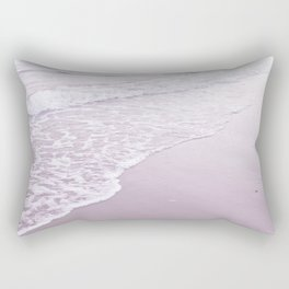 Happiness comes in pastel purple waves Rectangular Pillow