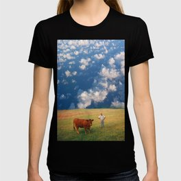 How Now Brown Cow #1 - What's that man doing in my field? T-shirt