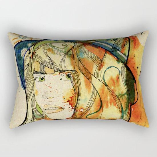 Portraits, Ann. Rectangular Pillow