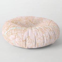 Firenze map Floor Pillow