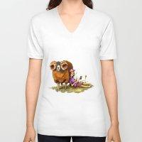 depression V-neck T-shirts featuring Bucolic depression by Maria Manoura