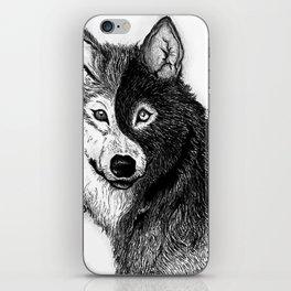 Ying Yang Wolf iPhone Skin