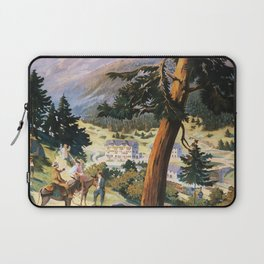 Auvergne vintage travel poster Laptop Sleeve