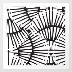 Basketweave-Ink Art Print