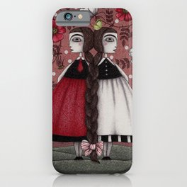 Snow-White and Rose-Red (1) iPhone Case
