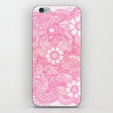 Henna Design - Pink iPhone Skin
