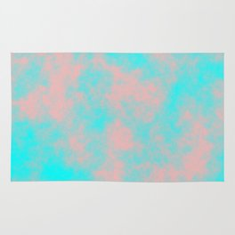 Cotton Candy Clouds - Pink & Blue Rug
