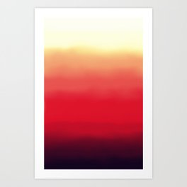 Ombré 2 red Art Print