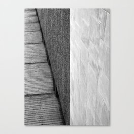 brutalist abstract concrete angles Canvas Print