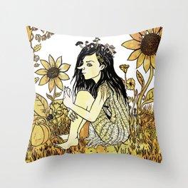 Field Pixie Throw Pillow