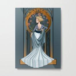 Be Thou Stone No More - Shakespeare Art Nouveau Metal Print