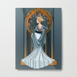 Be Thou Stone No More - Shakespeare Art Nouveau Metal Print