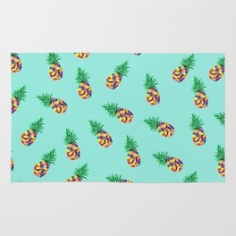 Tropical Pineapple pattern Rug