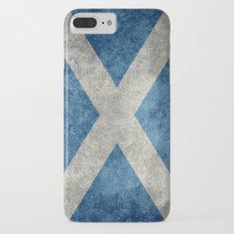 Scottish Flag - Vintage Retro Style iPhone Case