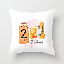 An Old Fashioned Cocktail Throw Pillow
