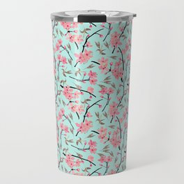 Cherry Blossom Pattern(sky) Travel Mug