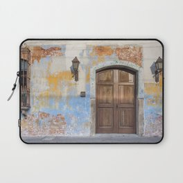 Colonial Façade in Antigua Guatemala Laptop Sleeve