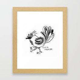Circuit Bird Framed Art Print