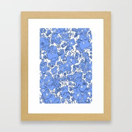 Technology! - Blue Framed Art Print