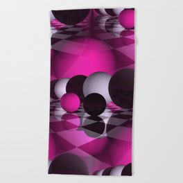 3D - abstraction -115- Beach Towel