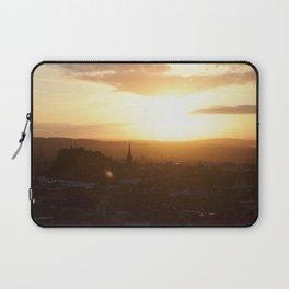 Salisbury Crags overlooking Edinburgh at sunset 3 Laptop Sleeve