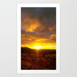 (#147) Burning Eastern Sunset Art Print