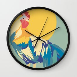 Rooster Rising Wall Clock