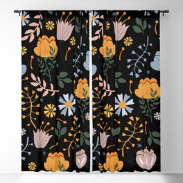 Flowers Pattern 61 Blackout Curtain