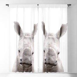 Baby Rhino Portrait Blackout Curtain