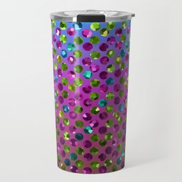 Polka Dot Sparkley Jewels G377 Travel Mug